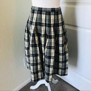 Vintage Pendleton Modest Pleated Wool Skirt